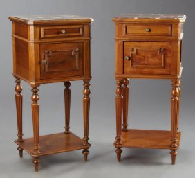 Near Pair Of French Louis Xvi Style Carved Cherry Or