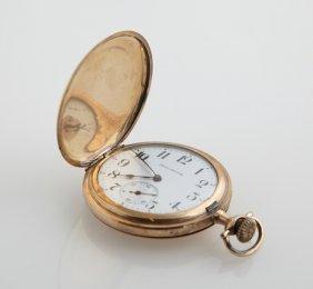 Burlington Rolled Gold Hunting Case Pocket Watch, 1915,