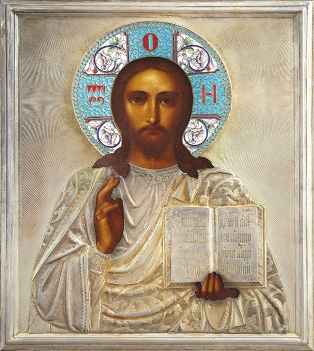 Russian Icon of Christ Pantocrator, 1908-1917, Moscow,