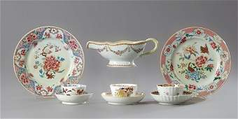 Group of Nine Pieces of Oriental Porcelain, 19th c.,