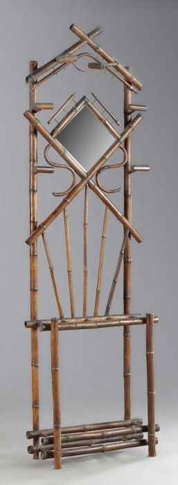 French Aesthetic Bamboo Hall Tree, Late 19th C., The