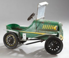 Steel Toy Pedal Car, Early 20th C., The Steering Wheel
