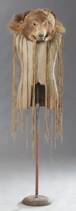 Native American Indian Bear Head Mask, 19th C., With