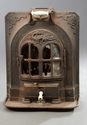 French Louis Xvi Style Cast Iron Heater, 19th C., By A.
