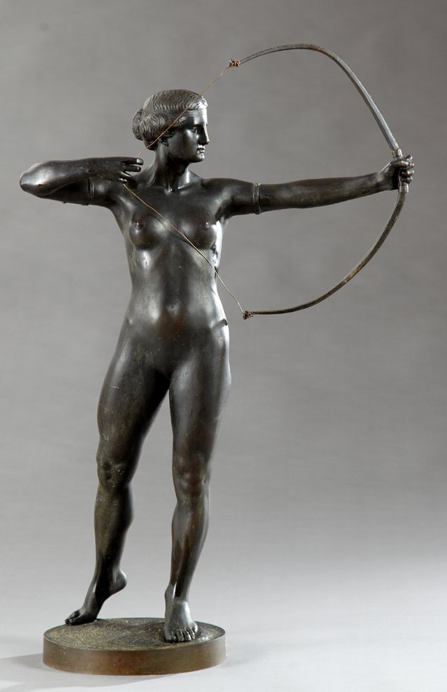 "M. Ziegler, ""Classical Nude Female Archer,"" early 20th"