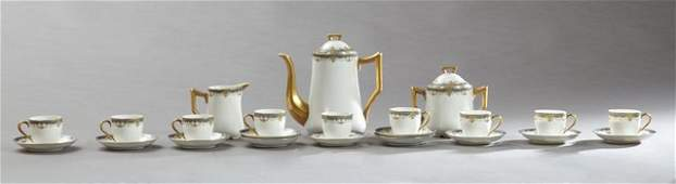 Two Limoges Partial Tea Sets, 20th c., one of 23 pieces