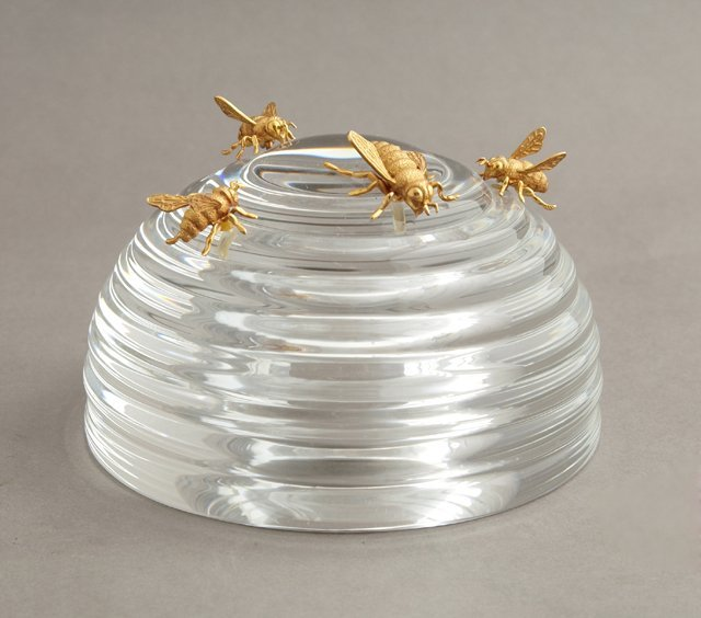Steuben Crystal Beehive, c. 1967, designed by James
