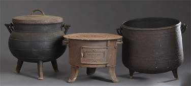 Group of Three French Provincial Cast Iron Items, 19th
