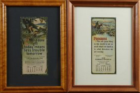 Two Advertising Calendars, 1922 And 1926, The 1922
