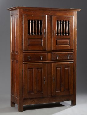 French Provincial Louis Xiii Style Carved Walnut Homme