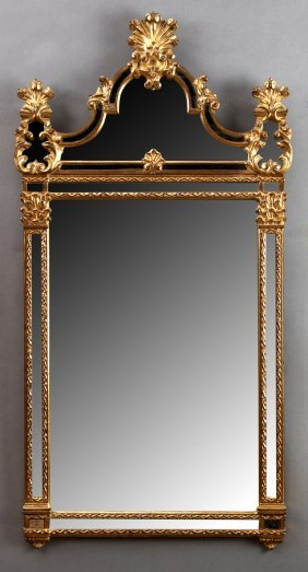 Rococo Style Continental Parcel Giltwood Overmantel