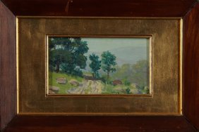 "John E. Jenkins (1868-1937), ""landscape With Road,"""