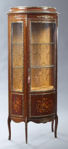 Louis Xv Style Marquetry Inlaid Ormolu Mounted Beech