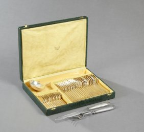 Thirty-nine Piece Set Of French Silverplate Flatware,