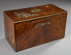 Outstanding French Mother-of-pearl And Brass Inlaid And