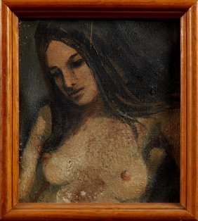 "Jake Calico (new Orleans), ""nude Portrait,"" 20th C.,"