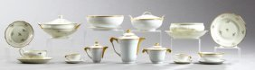 Ninety-eight Pieces Of French Porcelain Dinnerware,