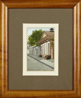 "Gail Bryant, ""french Quarter Street Scene,"" 1979,"