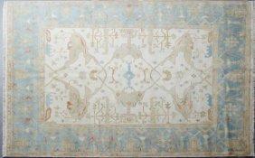 Turkish Angora Oushak Carpet, 8' X 9' 7.