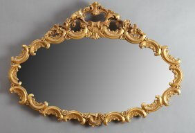 Rococo Revival Gilt And Gesso Overmantel Mirror, 20th