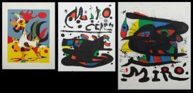 "Joan Miro (1893-1983), ""two Original Posters,"" And ""the"
