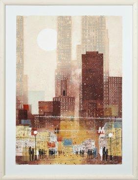"Mikulus Kravjansky, ""city Sights,"" 20th C., Print,"