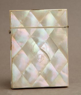 English Mother-of-pearl Calling Card Case, Late 19th