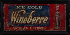 Two Lithographed Tin Advertising Signs, Early 20th C.,