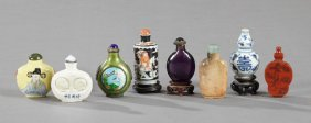 Group Of Eight Chinese Snuff Bottles, 20th C.,