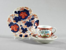 Three Pieces Of Imari Porcelain, C. 1890, Consisting Of