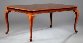 Edwardian Style Inlaid Mahogany Dining Table, 20th C.,