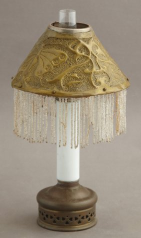 Newcomb College Conical Pierced Brass Shade, C. 1910,