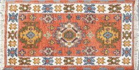 Kazak Carpet, 2' X 3'.