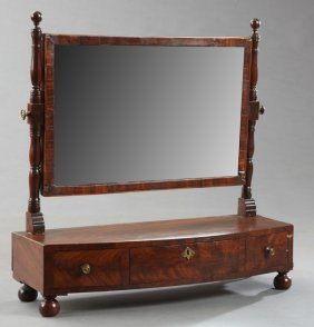 English Shaving Mirror, 19th C., The Rectangular Mirror
