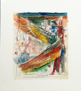 "Noel Rockmore (1928-1995), ""18th Dynasty 1339 Bc,"" Pen"