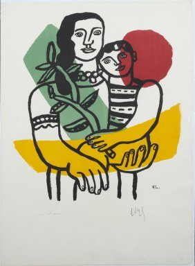 """Fernand Leger (1881-1955), """"maternite,"""" 1954,"""