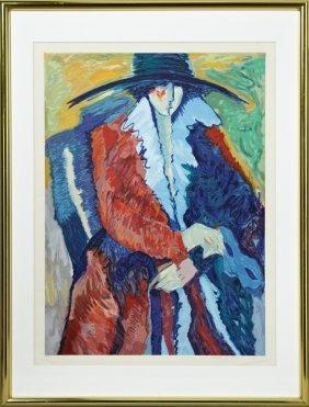 """Barbara Wood, """"masquerade,"""" 20th C., Print, 146/150,"""