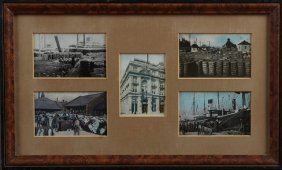 Group Of Five New Orleans Colored Postcards, Early 20th