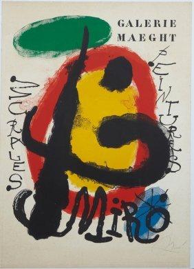 """Joan Miro (1893-1983), """"peintures Murales,"""" Original"""