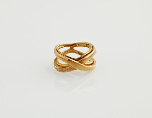 "18K Yellow Gold Tiffany ""Infinity"" Ring, size 3 1/2,"