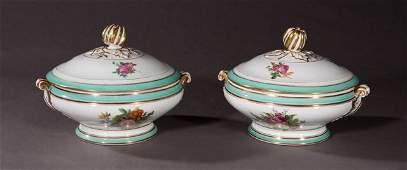 Four Pieces of Old Paris Porcelain, 19th c., consisting
