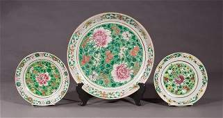 Group of Three Chinese Famille Rose Porcelain Pieces,