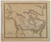 """Sidney Hall, """"Map of British North America,"""" 1829, from"""