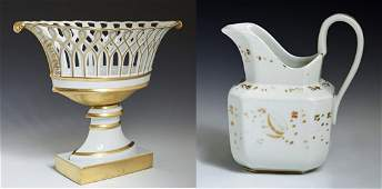Two Pieces of French Porcelain consisting of an Old