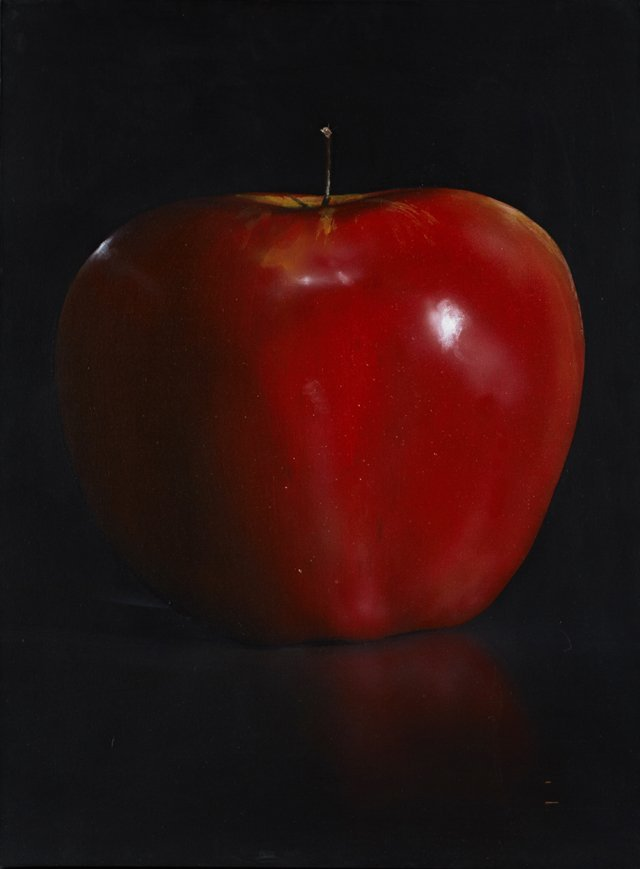 "Tom Seghi (1942-2011, American), ""Red Apple,"" 1996, oil"