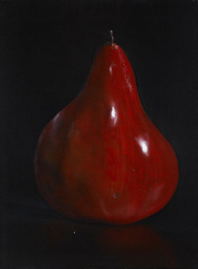 "Tom Seghi (1942-2011, American), ""Red Pear,"" 1996, oil"