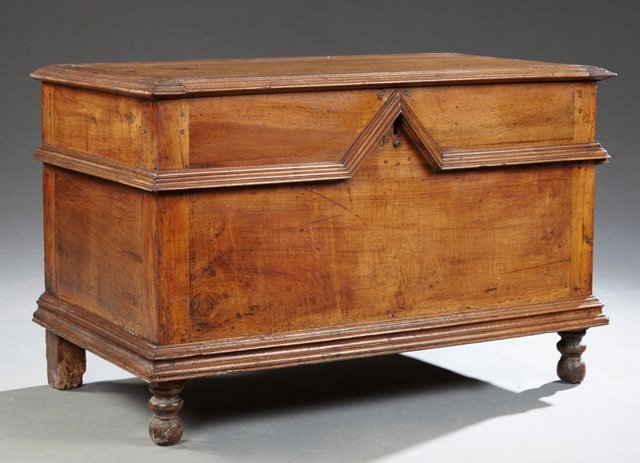 French Louis XIII Style Carved Walnut Coffer, 19th c.,