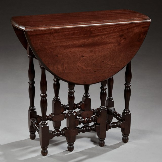 English William and Mary Style Carved Mahogany Drop