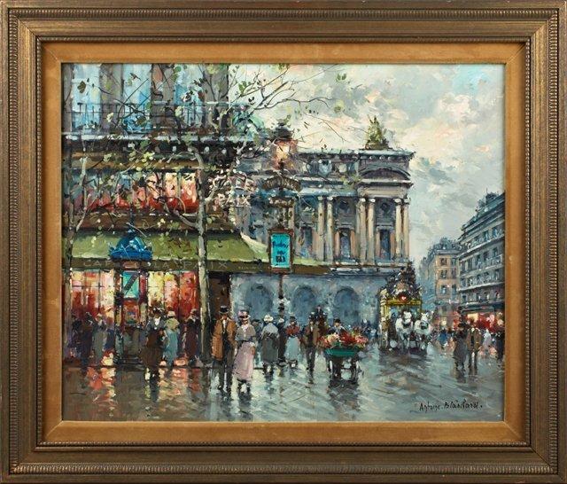 "Antoine Blanchard (1910-1988), ""L'Avenue de l'Opera,"""