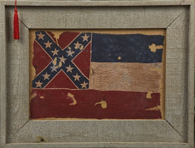 Diminutive Antique Mississippi State Flag, early 20th